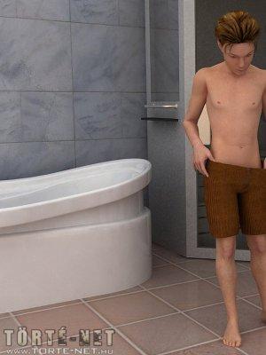 Alku az öcsivel a fürdőben