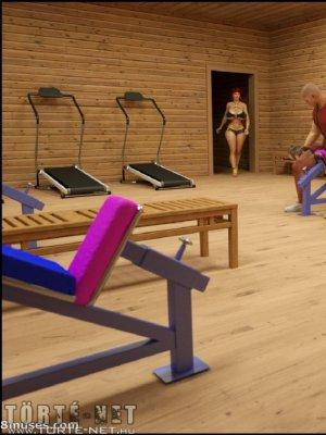 Miriam az edzőteremben