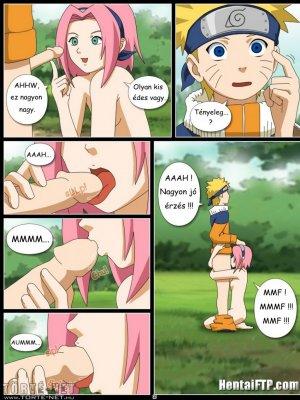 Naruto és Sakura az erdőben